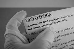Virus de la difteria Imagenes de archivo