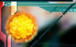 Virus de la poliomielitis Imagen de archivo libre de regalías