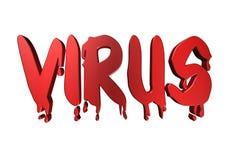 virus de la tipografía del diseño 3D Imágenes de archivo libres de regalías