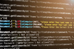 Virus de ordenador y ataque de las mercancías del Mal Fotos de archivo