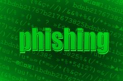 Virus de Phishing Image stock