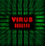 Virus de Word Images libres de droits