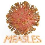 Virus del morbillo con testo Fotografia Stock Libera da Diritti