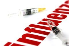 Virus dell'influenza H1N1 Fotografia Stock Libera da Diritti