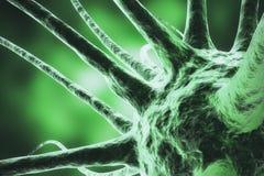 Virus der Wiedergabe 3d, Bakterien, Zelle steckte Organismus, abstrakten Hintergrund des Virus an lizenzfreie abbildung
