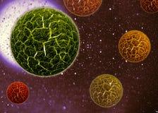 Virus der Zellen 3d Stockfoto