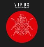 Virus design Royalty Free Stock Photos