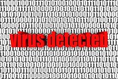 Virus detectado Imágenes de archivo libres de regalías