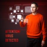 Virus detectado Foto de archivo libre de regalías