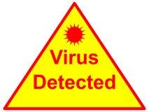 Virus detectado Fotos de archivo