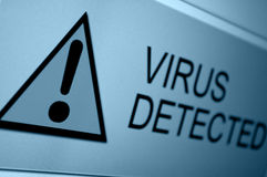 Virus Detected Royalty Free Stock Images