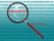 Virus detected Stock Photos