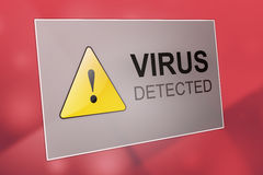 Virus detected Stock Image