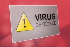 Virus detected Stock Image
