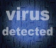 Virus Detected Represents Trojan Antiviral And Threat Royalty Free Stock Image
