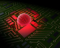 Virus di calcolatore Fotografia Stock