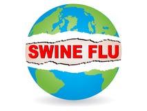 Virus di influenza dei maiali Fotografia Stock
