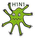 Virus di influenza dei maiali Fotografie Stock