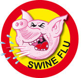 Virus di influenza dei maiali Fotografie Stock Libere da Diritti