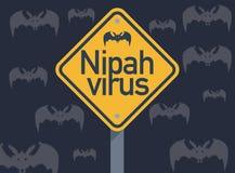 Virus di Nipah, una malattia emergente probabilmente sparsa dai pipistrelli della frutta illustrazione di stock