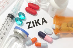 Virus di Zika Fotografie Stock