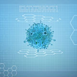 Virus on digital background Royalty Free Stock Photo