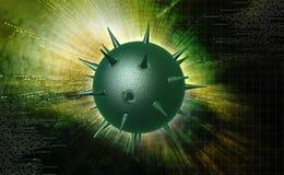 Virus. Digital illustration of virus in colour background stock photo