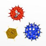 Virus divertente del fumetto Fotografie Stock