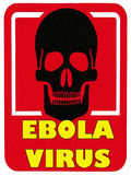 Virus Ebola de danger - la maladie mortelle Photo stock