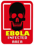 Virus Ebola de danger - la maladie mortelle - secteur infecté Photos stock