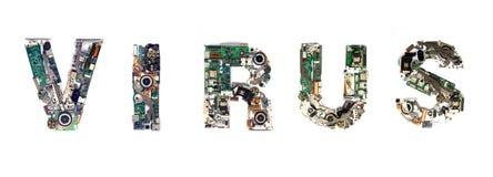 Virus electronic Royalty Free Stock Photo