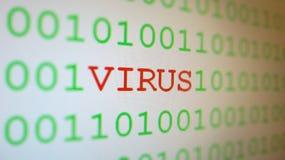 Virus en código binario   Imagen de archivo libre de regalías