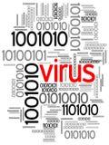 Virus en código binario Foto de archivo