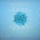 Virus en fondo digital stock de ilustración