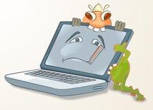 virus en warme het aanvallen computer Stock Foto's