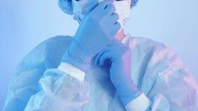 Virus epidemic nurse personal protective equipment
