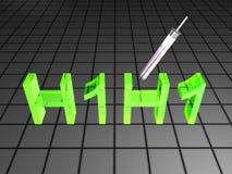 virus för 3d h1n1 Arkivbilder