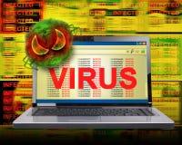virus för datorinfektioninternet Arkivbilder