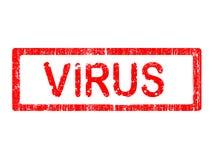virus för grungekontorsstämpel stock illustrationer