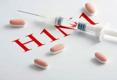 virus för influensa h1n1 Royaltyfri Bild