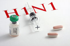 virus för influensa h1n1 Royaltyfria Bilder