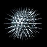 virus för metall 3d Royaltyfri Illustrationer