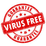 Virus free software vector stamp Stock Image