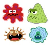 Virus germs 01 Stock Images