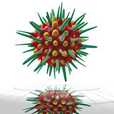 Virus green cell Stock Photography