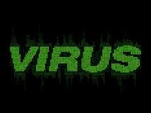 VIRUS is green word text mosaic digital Stock Image