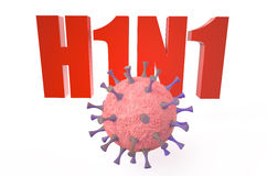 Virus H1N1 concept Stock Photography