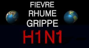 Virus H1N1 ilustración del vector