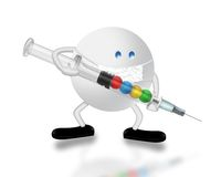 Virus H1N1 Photo libre de droits