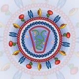 Virus humano del immonodeficiency Fondo EPS 10 Fotografía de archivo